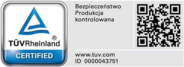 Certyfikat TÜV Rheinland